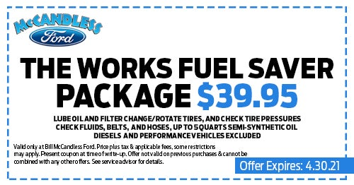 Ford Service Specials Mercer Pa Ford Parts Specials Bill Mccandless Ford